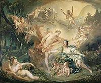 Apollo Revealing his Divinity to the Shepherdess Isse, 1750, boucher