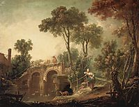 The Bridge, 1751, boucher