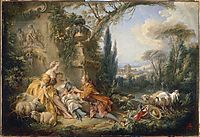 Charms of Country Life, 1737, boucher