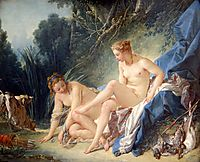 Diana getting out of her bath  , 1742, boucher