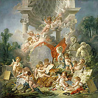 Geniuses of arts, 1761, boucher
