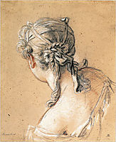 Head of a Woman from Behind  , c.1740, boucher