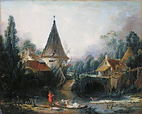 Landscape near Beauvais  early , 1740, boucher