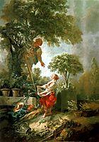 LandscapewithKirschpflückerin, 1768, boucher