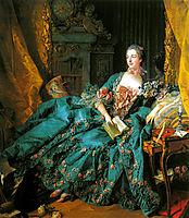 Madame de Pompadour, 1756, boucher