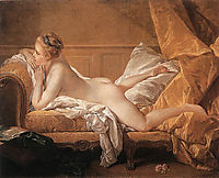 Nude on a Sofa, Portrait of Marie-Louise O-Murphy, 1752, boucher