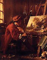 The Painter in His Studio, 1753, boucher