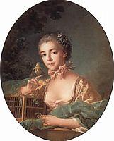 Portrait of the artist`s daughter, c.1760, boucher