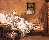 Portrait of the artist`s wife, 1743, boucher