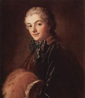 Portrait of a Lady with Muff, boucher
