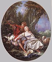 Shepherd and Shepherdess Reposing  , 1761, boucher