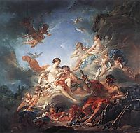 Vulcan Presenting Venus with Arms for Aeneas, 1757, boucher
