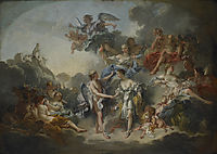 The Wedding of Psych et de l`Amour, 1744, boucher