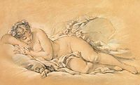 Young Woman Sleeping, c.1760, boucher
