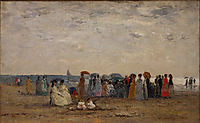Bathers on the Beach at Trouville, 18, boudin