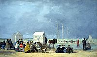 Bathing time at Deauville, boudin