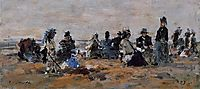 Beach Scene, 1879, boudin