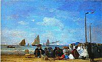 Beach Scene, Trouville, 1863, boudin