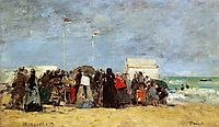 Beach Scene, Trouville, 1864, boudin