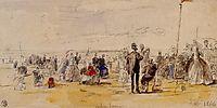 Beach Scene at Trouville, 1866, boudin
