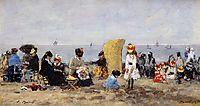 Beach Scene, Trouville, 1881, boudin