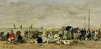 Beach Scene at Trouville, boudin