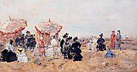 Beach Scene, Villers, 1894, boudin