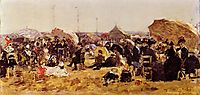 Beach at Trouville, boudin