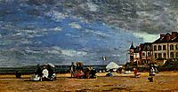 The beach at Trouville, 1864, boudin