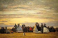 The Beach at Villerville, 1864, boudin