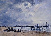 Berck, the Arrival of the Fishing Boats, boudin