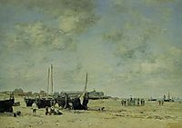 Berck Beach, 1878, boudin