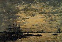 Bordeaux, Boats on the Garonne, c.1875, boudin