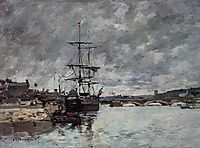 The Bridge over the Toques at Trouville, boudin