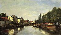 Brussels, the Louvain Canal, boudin