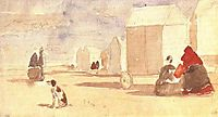 By the Bathing Machines, 1866, boudin