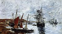Camaret, Boats on the Shore, boudin