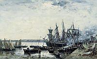 Camaret, the Port, 1872, boudin