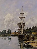 The Canal at Saint-Valery-sur-Somme, 1891, boudin