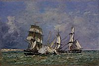 The Capture of the -Petit Rodeur-, 1878, boudin