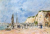 The Cliffs at Dieppe and the -Petit Paris- , boudin