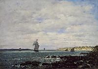 Coast of Brittany, 1870, boudin