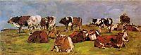 Cows in a Field, c.1883, boudin