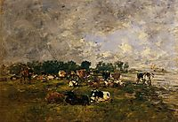 Cows in the Fields, c.1894, boudin