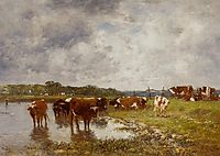 Cows in a Meadow on the Banks of the Toques, 1880, boudin