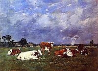 Cows in the Pasture, 1888, boudin