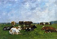 Cows in a Pasture, c.1883, boudin