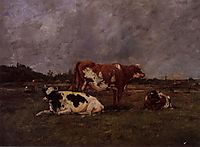 Cows in Pasture, c.1883, boudin