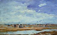 Deauville, the Beach, Low Tide, c.1887, boudin