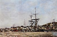Deauville, the Docks, 1875, boudin